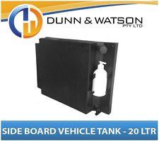 Vehicle Water Tank With Soap Dispenser (20L) Side Board Black PVC Ute - LH & RH