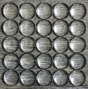 """12mm (1/2"""") Round Glass Cabochons - Clear Magnifying Dome Cabs - 0.5 inch"""