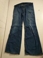Red Snap Vintage Bellbottom Flare Jeans W34 L38