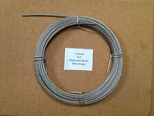 2.5mm x 10m Stainless Steel Wire Rope  7/7  49 Strand 18/8 304 INOX Surgical