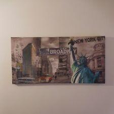 N2017 tableau lumineux toile photographie New York Broadway art déco PN France
