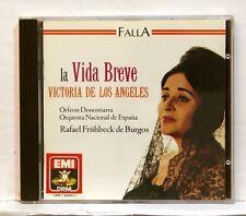 VICTORIA DE LOS ANGELES, RAFAEL DE BURGOS - FALLA La Vida Breve EMI CD NM