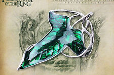 THE LORD OF THE RINGS  ELVEN LEAF BROOCH NECKLACE ARWEN EVENSTAR HOBBIT COSPLAY