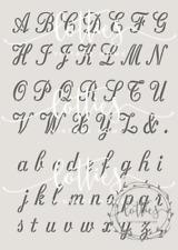 Alphabet Stencil A4 UPPERCASE & LOWERCASE Script Font ❤ Furniture 190 MYLAR