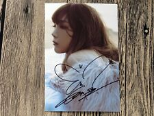 SNSD Taeyeon Tae Yeon Autographed photo SOLO 1111 4*6inches  11.2016 01
