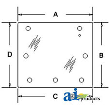 A 3389902m1 For Massey Ferguson Glass Rear Cab Window 3050 3060 3065 307
