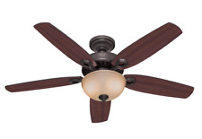 Indoor ceiling fan with bowl light and pull cord Builder Deluxe Bronze 132cm 52""
