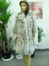 BRAND NEW NATURAL MONTANA LYNX BELLY FUR COAT JACKET WOMEN WOMAN