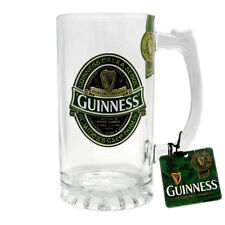 Guinness Ireland Collection Glass Tankard/Stein with Guinness Badge 5340