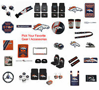 Brand New NFL Denver Broncos Pick Your Gear / Accessories Official Licensed