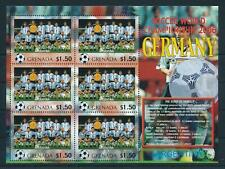 [105226] Grenada 2006 World cup football Germany team Argentina Sheet MNH