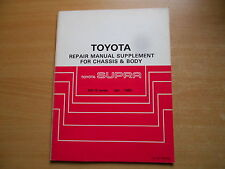Repair manual supplement Toyota SUPRA MA70 04.1986 BRM036E