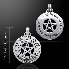 Good Luck Pentagram Pentacle .925 Sterling Silver Pendant by Peter Stone