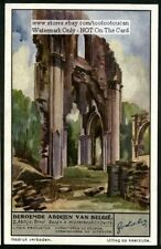 Orval  Belgium Belgium Abbey Church History 1930s Trade Ad Card