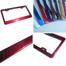 Powder Coated Red Chrome Stainless Steel License Plate Frame Bracket Holder New