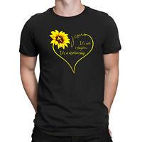 Sunflower Jesus It's Not Religion It's A Relationship T-shirt Men's Black Tee