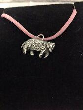 Badger R158 Inglés Estaño Emblema en Una Rosa Cable Collar hecho a mano