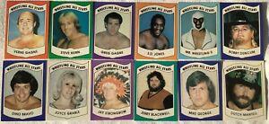 (12) 1982 Wrestling All Stars Series B Rookie Lot Mr Wrestling Verne Gagne More