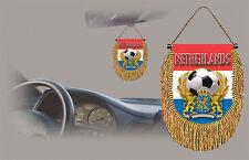 NETHERLANDS SOCCER FLAG CAR MINI BANNER, PENNANT