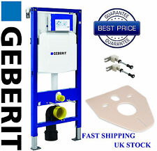 Geberit UP320 DUOFIX 1.12m WC Toilet Frame Wall Hung With Wall Brackets & MAT