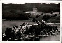 Titisee Schwarzwald Ansichtskarte 1956 Blick auf das Titisee Hotel und Strandbad