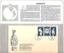 BARBADOS  # 474 25TH ANNIVERSARY QUEEN ELIZABETH II CORONATION  FDC