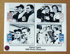 1968 World Series - Detroit Tigers 11 x 14 collage photo w ticket stubs - 4 Wins