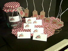 Jam Jar Covers with Matching Labels and Gift Tags x 36