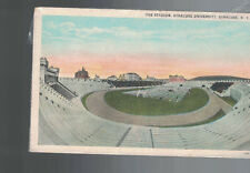 Syracuse University Postcard The Football Stadium Upstate NY 1940s