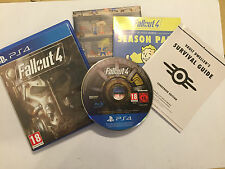 SONY PLAYSTATION 4 PS4 GAME FALLOUT 4 IV +BOX CHART INSTRUCTIONS COMPLETE PAL