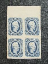 nystamps US CSA Confederate Stamp # 12d Mint OG H $76 Block Of 4    N20x1096