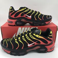 Nike Air Max Plus Black White Chile Red CZ9270-001 Men's Shoes Size NEW