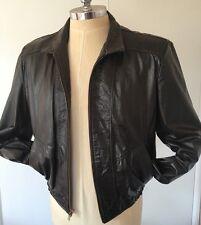 Vintage JEAN PIERRE Argentina Seventies Jacket Leather Mens 44 Size Large Brown