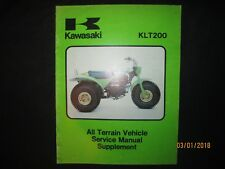 1981 Kawasaki Klt200 Atc Atv Motorcycle Service Manual Supplement Original Oem