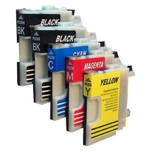5 Ink Cartridges Compatible With Brother DCP 145C 165C 195C 365CN 375CW DCP-185C