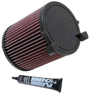 K&N Hi-Flow Performance Air Filter E-2014 fits Volkswagen Golf 1.2 TSI Mk6 (7...