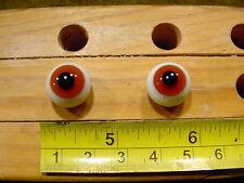 983 un par vintage esférico masivo muñeca cristal ojo un alambre círculo de 13mm