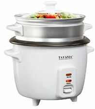 NEW!!! Tayama RC-3 Rice Cooker & Food Steamer 3 Cup in White