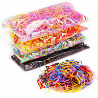 1000pcs Rubber Hairband Silicone Ponytail Holder Rope Elastic Hair Accessories #