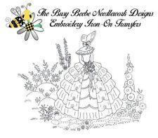 Crinoline Ladies Lady Garden Gal Belle Embroidery Iron-On Transfer #10