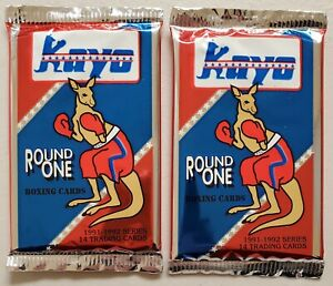 Kayo Round One Boxing Cards Autographs Lot of 2 (Two) Sealed Unopened Packs**