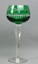 Weinglas, Kristall, Römer, Mitte 20. Jahrhundert. Grün überfangen, 19,5 cm