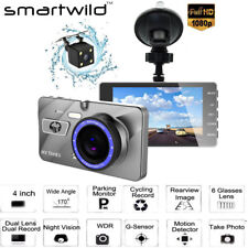 "4.0"" Dual Lens HD 1080P Car DVR Auto Camera Dash Cam Vehicle Black Box Car Video"