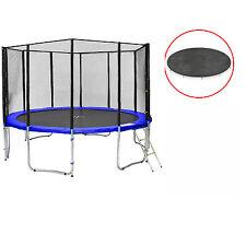 Sb-400-bw12ns cama elástica de jardín 400cm incl. red, lona de protección 180kg