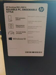 HP Pavilion New out-of-box(256 GB, AMD Ryzen 3, 8 GB Ram) Desktop - Black