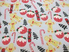 SKY BLUE Pan Di Zenzero Uomo, Candy Cane, tessuto in policotone stampato Natale