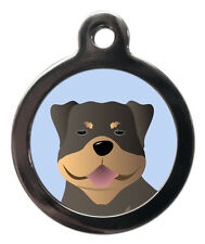 Rottweiler Rottie Breed Cute Fun Pet Tags Dog ID Collar Tag ENGRAVED FREE