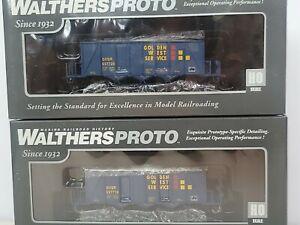 Walthers HO 40' Ortner 100 Ton Open Aggregate Hopper Golden West GVSR Pack 2