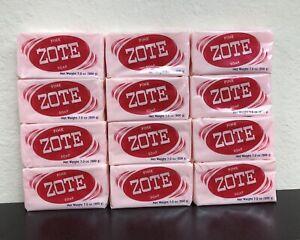 12 PCS PINK ZOTE Laundry Bar Soap 7.0 OZ 200g EACH