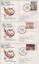 Stamps Australia 1974 high value paintings set of 3 on 3 WCS Wesley register FDC
